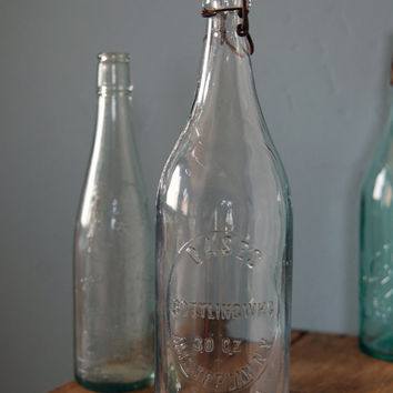Vintage Rare Case's Bottling Works 30 oz Soda Bottle