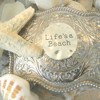 Lifes a Beach Belt Buckle, Summer Accessories, Mermaid Life, Surfer Gift, Beach Lover, Womens Festival Resort Wear, Beachwear For Her