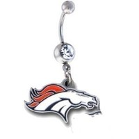 Denver Broncos NFL Sexy Belly Navel Ring