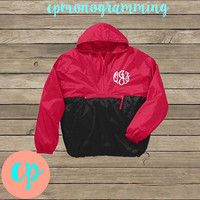 Monogrammed Windbreaker Rain Pullover- Light Weight