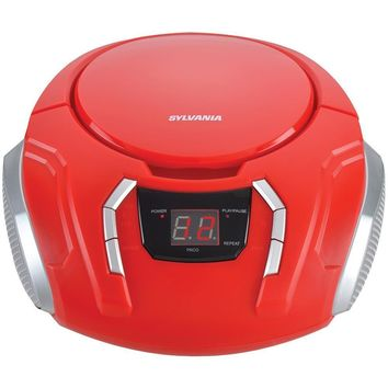 Sylvania Portable Cd Players With Am And Fm Radio (red) CURSRCD261BRD