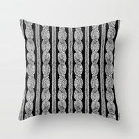 Cable Row B Throw Pillow by Project M