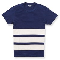 Yarn Spun Tee - Navy Stripe