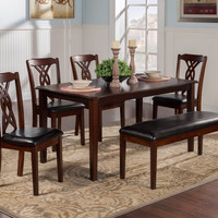 Alpine PROVO 5 PIECE DINING SET WITH TABLE AND 4 CHAIRS