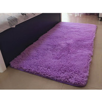 Soft Solid Anti-skid Carpet Living/Dining Bedroom  Shaggy  Mat Rug