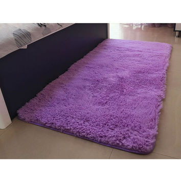 Soft Solid Anti-skid Carpet Living/Dining Bedroom  Shaggy  Mat Rug = 1932902340