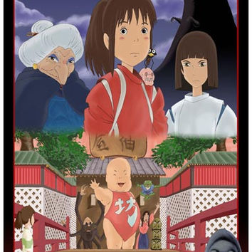 Spirited Away Anime Movie Cast Poster 11x17
