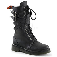 Buy Demonia Womens Rage-307 low heel mid calf combat boot