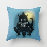 Story Time Throw Pillow by Eric Fan