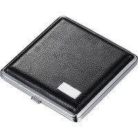 Visol Austin Black Leather Double Sided Cigarette Case