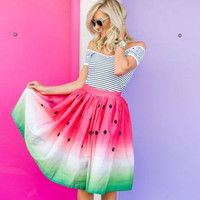 New fashion hanging with watermelon skirt