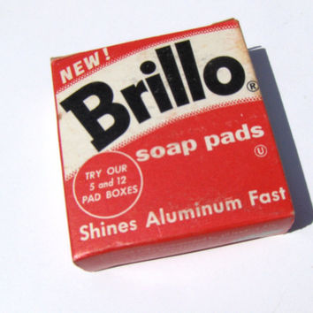 Vintage Brillo Pad Box Advertising Red Kitchen Kitsch
