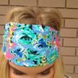 Aqua Floral Stretch Headband