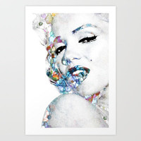 Marilyn Monroe (NOW WITH MORE SIZES) Art Print by NKlein Design