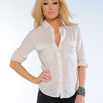 Button Down Boyfriend Shirt | Sexy Clothes Womens Sexy Dresses Sexy Clubwear Sexy Swimwear | Flirt Catalog