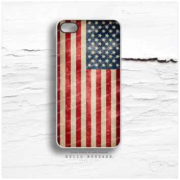 iPhone 5 Case American Flag, iPhone 5s Case Flag, iPhone 4 Case, iPhone 4s Case, Geometric iPhone Case, Vintage Flag iPhone Cover R9
