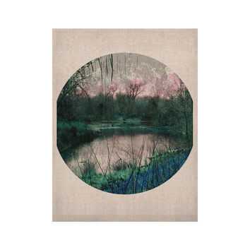 "Micah Sager ""Swamp"" Lake Circle KESS Naturals Canvas (Frame not Included)"