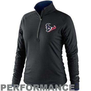 Nike Houston Texans Women's Conversion Half Zip Performance Jacket - Black