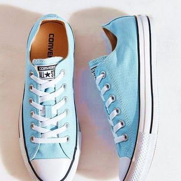 """Converse"" Fashion Canvas Flats Sneakers Sport Shoes Light blue"