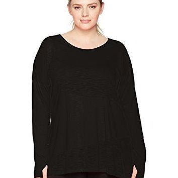 Fit for Me by Fruit of the Loom Womens Plus Size Active Pieced Tunic Tee