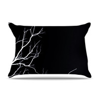 "Skye Zambrana ""Winter Black"" Pillow Sham"