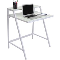2-Tier Desk White