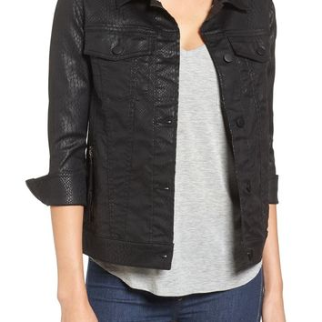 Pam & Gela Coated Sateen Jacket | Nordstrom
