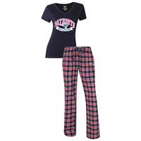 New England Patriots Pajama Pants and V - Neck Top Set