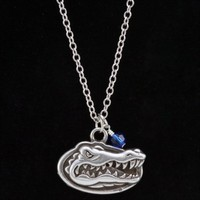 Florida Gators Small Chain Necklace With Crystal