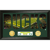 University of Oregon inWord Artin Bronze Coin Panoramic Photo Mint