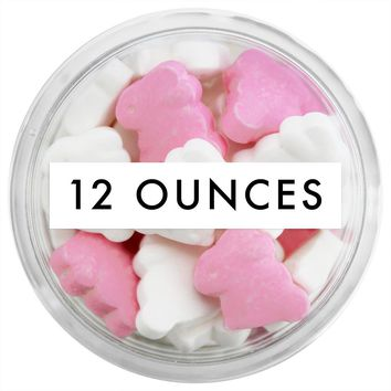 Pink & White Bunny Candy Sprinkles 12 OZ