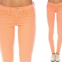 Flying Monkey Salmon Color Jeans