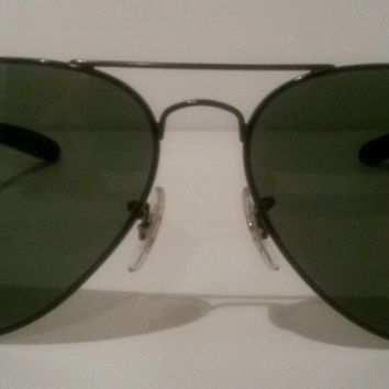 New Authentic Ray-Ban Aviator Sunglasses 8307 002 G-15 Green Black Carbon Fibre