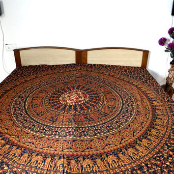 Mandala Tapestry Elephant Wall Decor Camel Bedspread Bohemian Dorm Throw