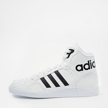 Adidas Originals Extaball White High Top Trainers