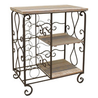 Attractive 2 Tier Shelf With Wine Rack