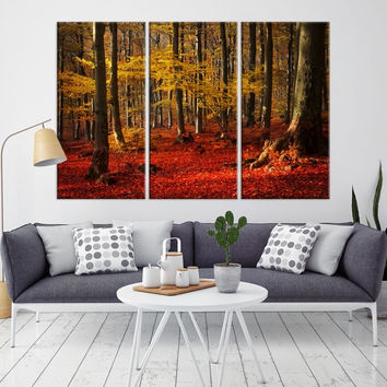 37244 - Forest Wall Art- Autumn Canvas Print- Forest Canvas- Forest Canvas Art- National Art Print- Canvas Print- Large Wall Art-