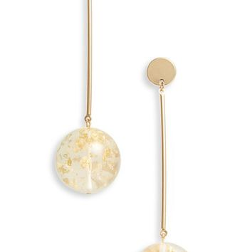 Topshop Glitter Globe Drop Earrings | Nordstrom