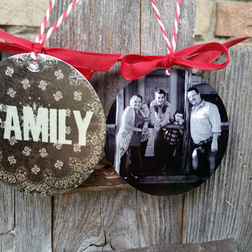 Personalized and Custom Christmas Ornaments, double sided