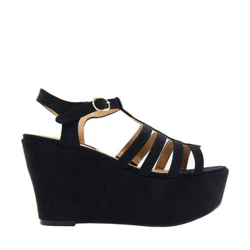 London Rebel Strapy Heeled Sandal