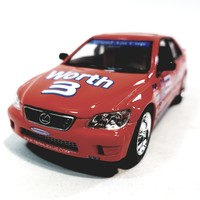 Kinsmart Lexus IS300 #3 Andy Lally Indy Motor Speedway Orange Street Fighter Edition 1/36 Scale Diecast Race Car