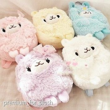 Amuse Alpacasso Arpakasso Alpaca Coin Bag Case Plush Stuffed Animal 5 Colors