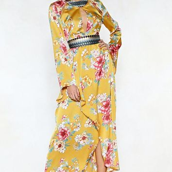 The Flower of Goodbye Maxi Dress