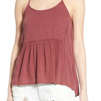Sun & Shadow Ladder Stitch High/Low Tank | Nordstrom