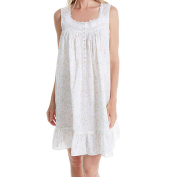 Eileen West 5316047 Short Gown 100% Cotton