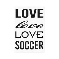 Zazzle Love Soccer Gallery Wrapped Canvas