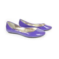 6.5 | STEVE MADDEN purple ballet flats / pastel / faux vinyl patent leather flat / heaven / womens shoes size 6.5