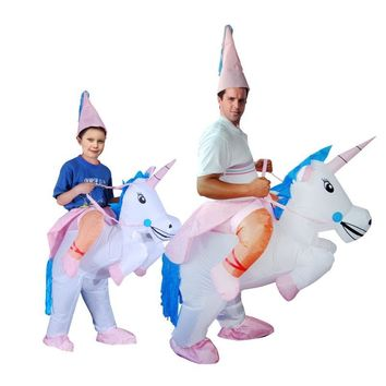 Inflatable halloween costume Unicorn Onesuit Adult kids Horse Fancy Dress jumpsuit Costume T-REX dinosaur cosplay