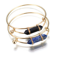 Shiny Hot Sale New Arrival Awesome Great Deal Gift Stylish Vintage Turquoise Bangle Strong Character Simple Design Geometric Innovative Ring Bracelet [8581962695]