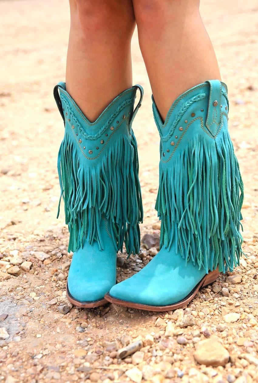 The Rambler Boots Turquoise Junk Gypsy From Junk Gypsy